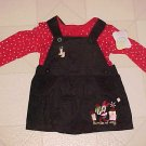 NEW 6-9 MO DISNEY MINNIE MOUSE CHRISTMAS DRESS OUTFIT