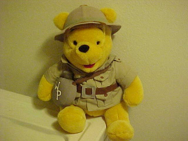 ADORABLE PLUSH WINNIE THE POOH IN SAFARI OUTFIT