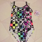 BRAND NEW MULTI-COLOR GEOMETRIC TODDLER GIRLS XS 4-5 OP UPF 50+ ONE PC SWIMSUIT