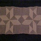 "VINTAGE NEVER USED BEAUTIFUL HAND MADE 15"" x 9"" ECRU RECTANGULAR DOILY"