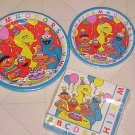 NEW SESAME STREET MATCHING PAPER PARTY PLATES & NAPKINS