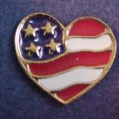 LOVELY VINTAGE NEW IN BOX GOLD TONE AVON HEART OF AMERICA PATRIOTIC PIN BROOCH
