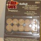 "NEW SHEPHERD BRAND HEAVY DUTY 20 SELF-ADHESIVE 3/4"" DIAMETER FELT GARDS #9951"
