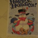 BRAND NEW ADORABLE 13 PIECE CHRISTMAS SNOWMAN WINDOW CLINGS