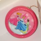 BRAND NEW  GLITTERY DISNEY PRINCESS PINK CHRISTMAS ORNAMENT CINDERELLA TIANA