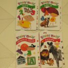 BRAND NEW Set 4 Brainy Baby Educational Childrens Books Shapes Numbers Letters