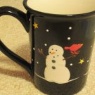 Season Bright Christmas Holiday Snowmen Large 15 oz Ceramic Coffee Mug Cup