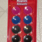 Brand New 8 Coat Button Buttons Plastic Refrigerator Magnets Pink Blue Gray Blk