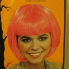 New Adult Short Pink Hair Halloween Costume Glamour Celebrity Super Model Wig