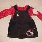 BRAND NEW SIZE 6-9 MONTH DISNEY MINNIE MOUSE CHRISTMAS DRESS OUTFIT