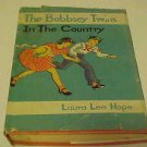 OLD KIDDY BOOK THE BOBBSEY TWINS IN THE COUNTRY 1940s HARDCOVER CHILDRENS BOOK