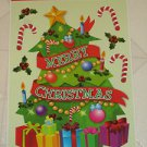 Brand New 6 Christmas Tree Presents Candy Canes Static Window Clings Made in USA
