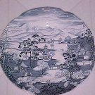 "VINTAGE Johnson Brothers England Blue & White 6-1/2"" Plate Enchanted Garden"