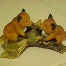 HOMCO Home Interiors Baby Fox Cub Foxes Forest Animal Porcelain Figurine