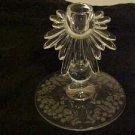 LOVELY VINTAGE ELEGANT FLORENTINE NEW MARTINSVILLE ETCHED GLASS CANDLE HOLDER