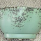 VINTAGE Mid Century 1950s California Pottery Seafoam Green & Gold Planter Pot