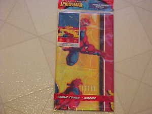 BRAND NEW MARVEL HALLMARK SPIDERMAN PLASTIC PARTY TABLECOVER TABLECLOTH
