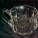 Lovely Vintage Clear Glass Mid Century Six Sided Sugar Bowl Tableware Glassware