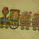 New Christmas Static Window Clings Santa Claus Toy Train Decals Vinyl Decoration