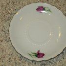 Vintage Mid Century Two Japan Porcelain Bone China Moss Rose Saucer Saucers