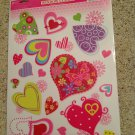 New Valentine's Day MOD Hearts 19 Static Window Clings Decals Love Hippie