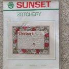 "1982 Sunset Stitchery Kit Christmas Is Cheryl Harness 14""X18"" Sealed Needlepoint"