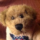 Boyds Bears Boy Bear Heart Knit Sweater Blue Coveralls Bearwear Jointed Plush