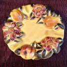 Ashtray Fruit Floral Dish Candy Serving Decorative Gold Pottery Pear Daisy