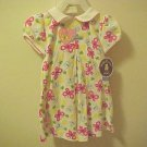 New Girls 24 Month Dress & Panties Carters Pink Butterfly Flowers Toddler Cotton