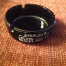 Vintage Black Cigarette Ashtray Casino Golden Nugget Gambling Hall Las Vegas