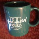 Coffee Mug Cup Fond-du-luth Casino Duluth MN Green Gambling Betting Poker Slots