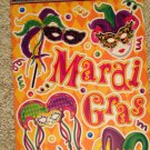 Brand New Mardi Gras Orange Red Purple Masks Confetti Static Window Clings
