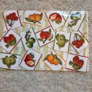 "New Set of Four 12"" X 18"" Vinyl Fruit Berry Cherry Placemats By The Home Store"