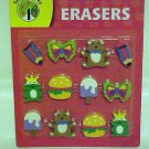 Brand New Teaching Tree 12 Pack Fun Shapes School Supplies Eraser Set Erasers