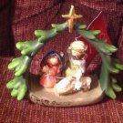 Nativity Figurine Holy Family Joseph Mary Jesus Manger Christmas Lamb Religious