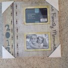 "2012 Our Family Memories 11"" Hanging Scrapbook Photo Frame 2 Openings 3.5"" x 5"""