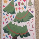 New Vinyl Static Window Clings Build a Christmas Tree 40 Decals Lights Candy