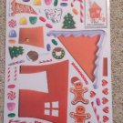 New Vinyl Static Window Clings Christmas Build a Gingerbread House 50 Decals