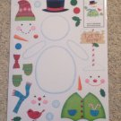 New Vinyl Static Window Clings Christmas Build Snowmen Set 27 Decals Snow Man