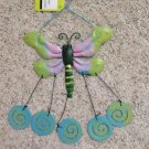 New Purple Green Painted Metal Dragonfly Insect Windchimes Wind Chimes Patio