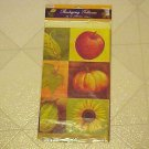 """Thanksgiving Plastic Tablecloth Table Cover Fall Harvest 54"""" x 108"""" New Pumpkin"""