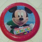 New Disney Mickey Mouse Red Plastic Frisbee Flying Disc Toy Play Catch Throw