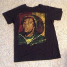Bob Marley Get Up Stand Up Black Tee T-Shirt Size Medium Jamaica Freedom Fight