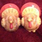 Salt & Pepper Shakers Thanksgiving Turkey Bird Figural Tableware Porcelain