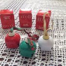 New in Box Set 3 Avon Sleigh Bell Bells Christmas Ornaments Red White Green