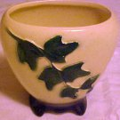 Vintage Royal Copley Green Ivy Pattern Ivory Pottery Vase Planter Pot Free Ship