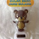 New Solar Powered Dancing Brown Teddy Bear Wiggles Head & Body Arms In Sunlight