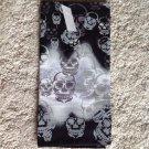 New Black Gray White Bandana Skull Cap Du Rag Neckerchief Cancer Scarf Dog Cat