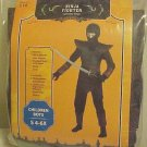 Halloween Play Costume New Ninja Warrior Fighter Boys Size Small 4-6X Black Mask