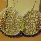 New Pierced Earrings Silver Tone Beaded Dream Catcher Dangle Dangling Jewelry